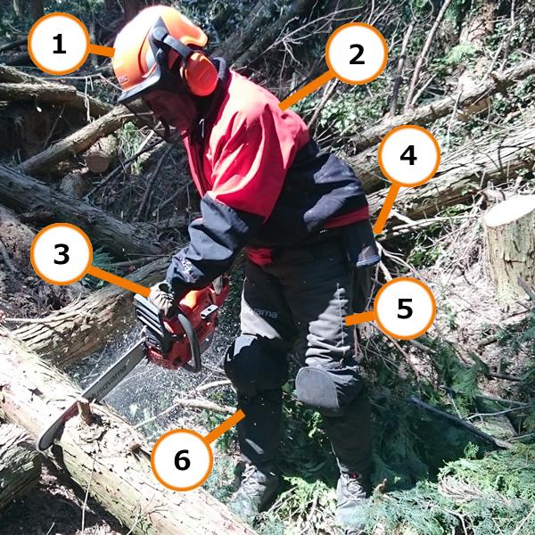 山師の装備図解